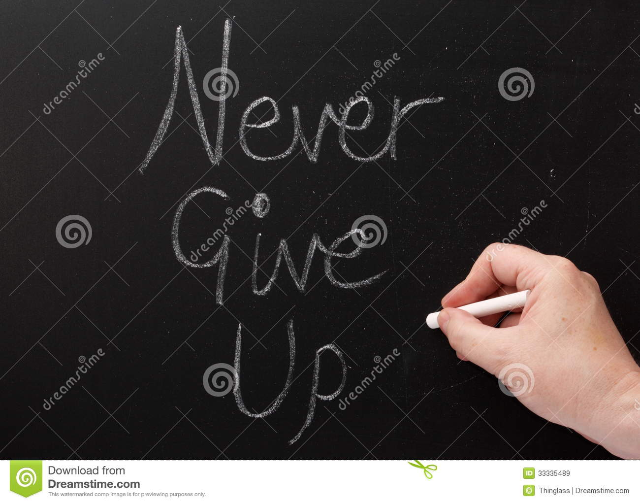Never Give Up Writing