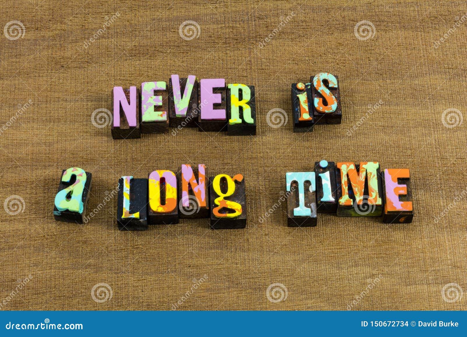 Never long time term goal plan planning short
