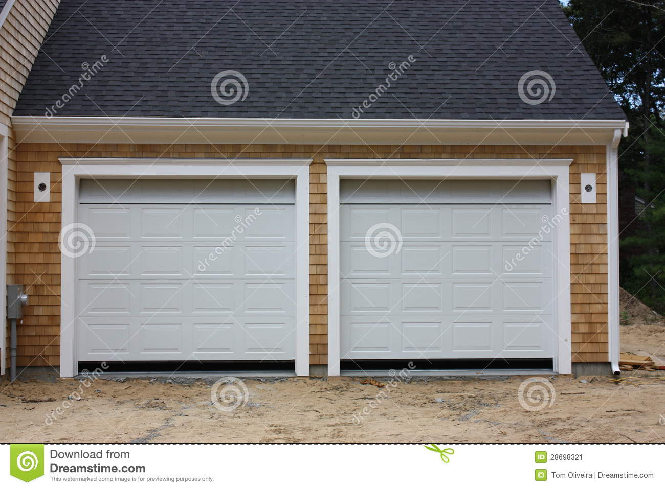New 2 Car Garage Stock Image Image 28698321