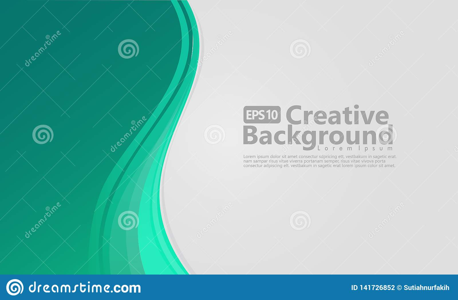 New abstract wave style creative background