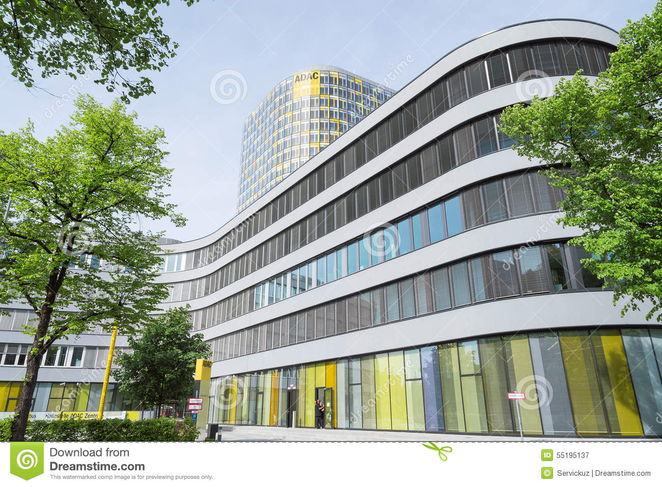 new adac headquarters 18 storey office tower rises above 5. Black Bedroom Furniture Sets. Home Design Ideas