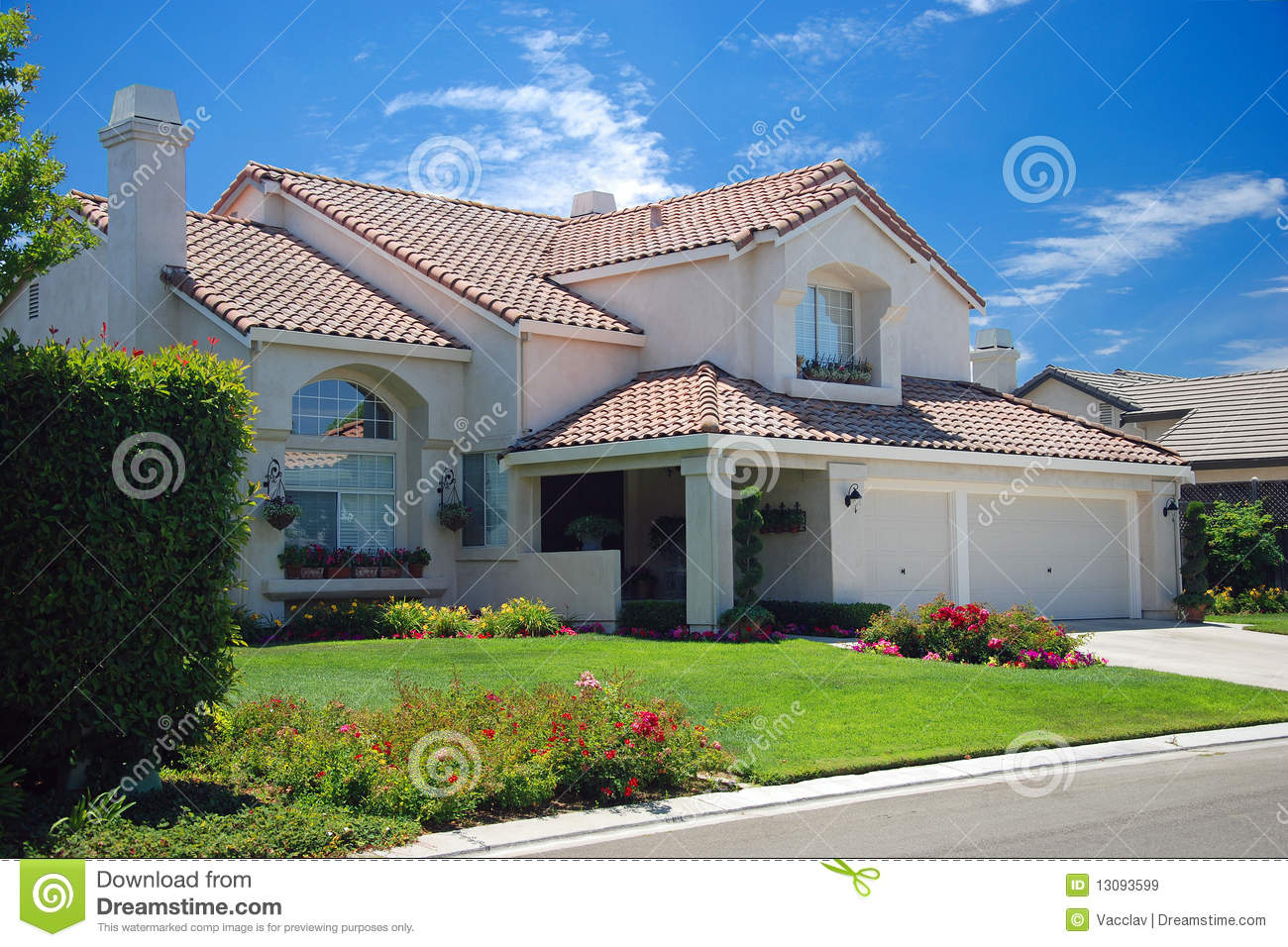 New American Dream Home Royalty Free Stock Images Image