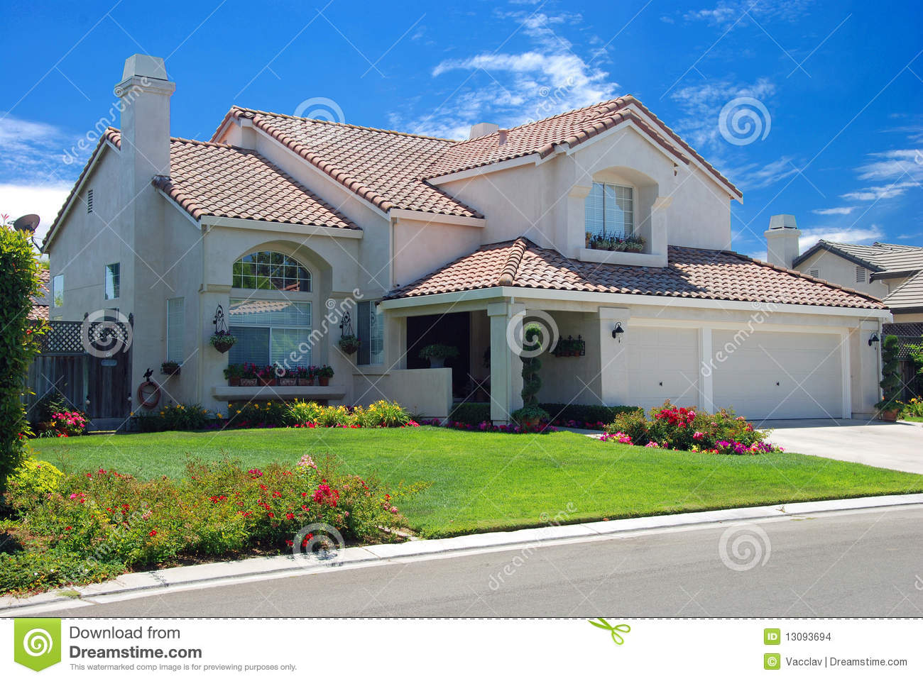 New American Dream Home Stock Images Image 13093694