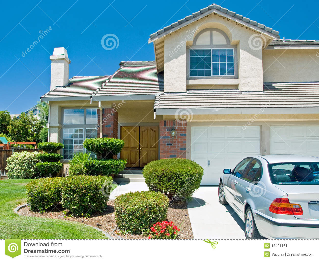 New American Dream Home Stock Image Image 18401161