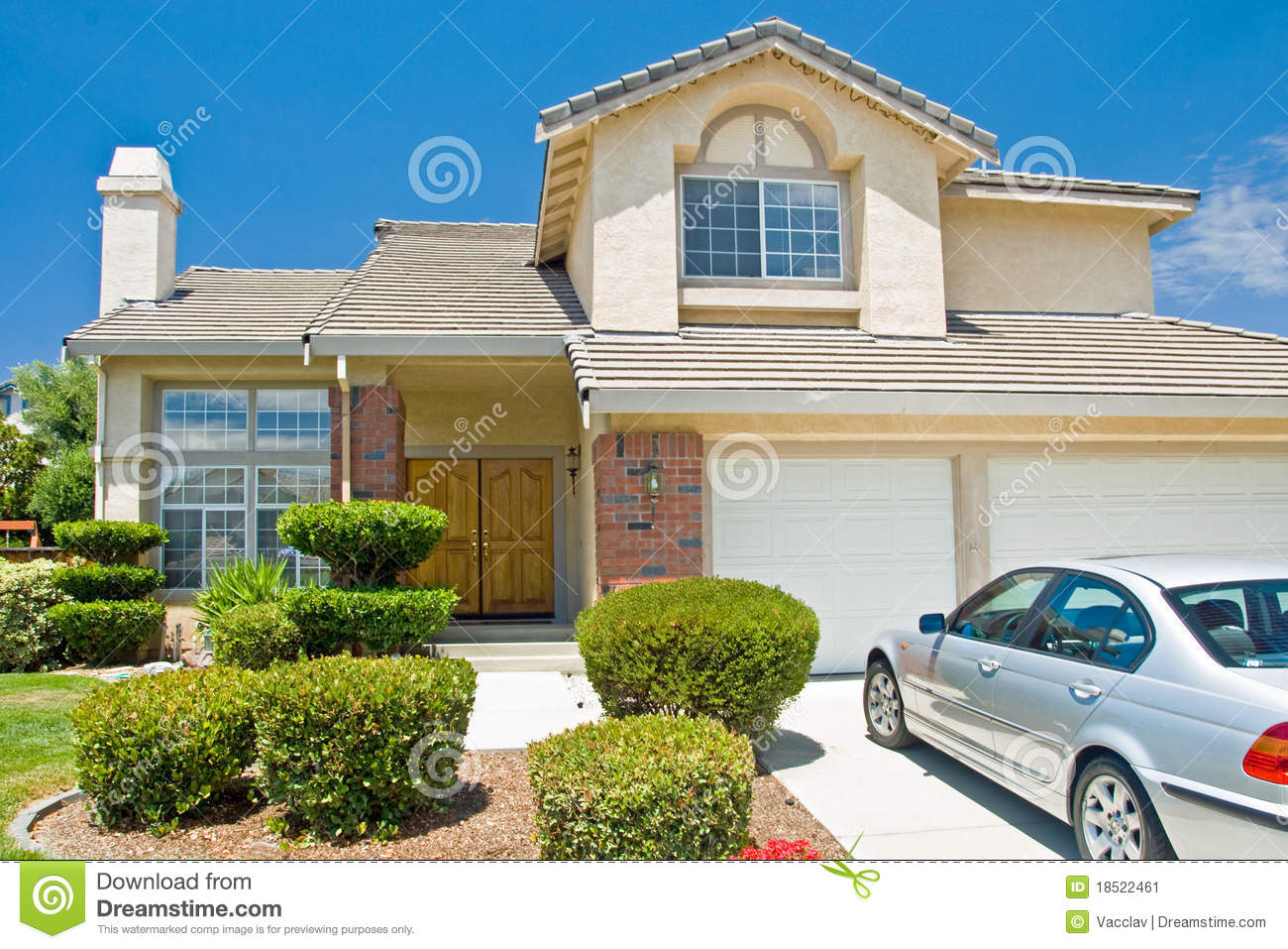 New American Dream Home Stock Image Image 18522461