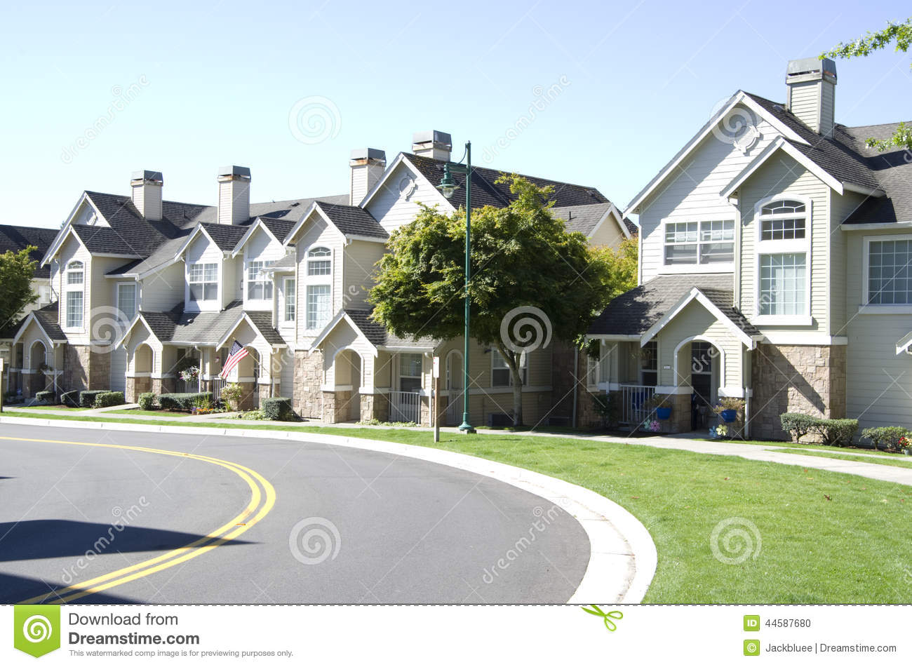 New american dream homes stock photo image 44587680 for American dream home builders