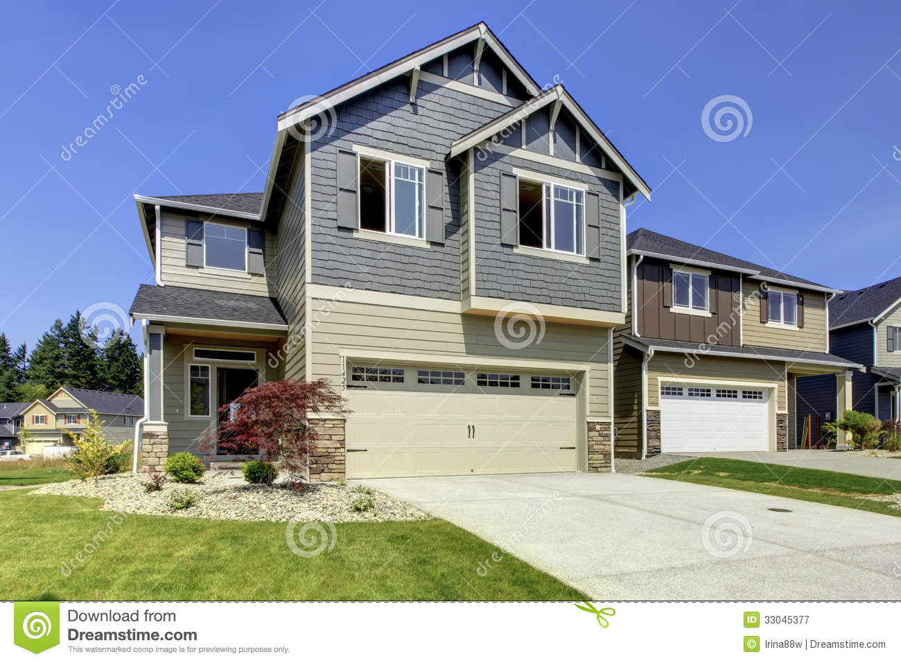 New american home exterior royalty free stock photography for New american homes