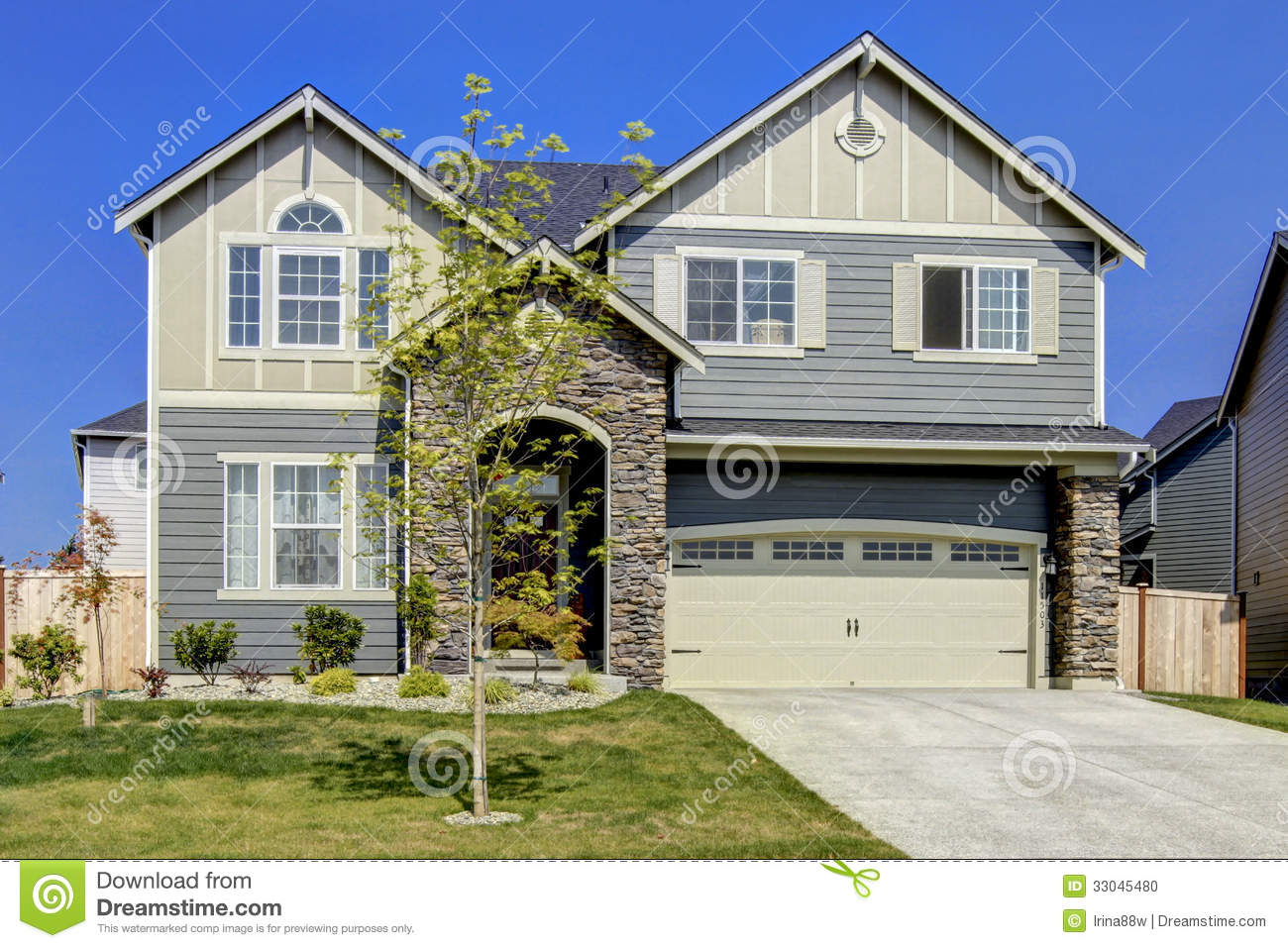New american home exterior stock photo image 33045480 for New american homes