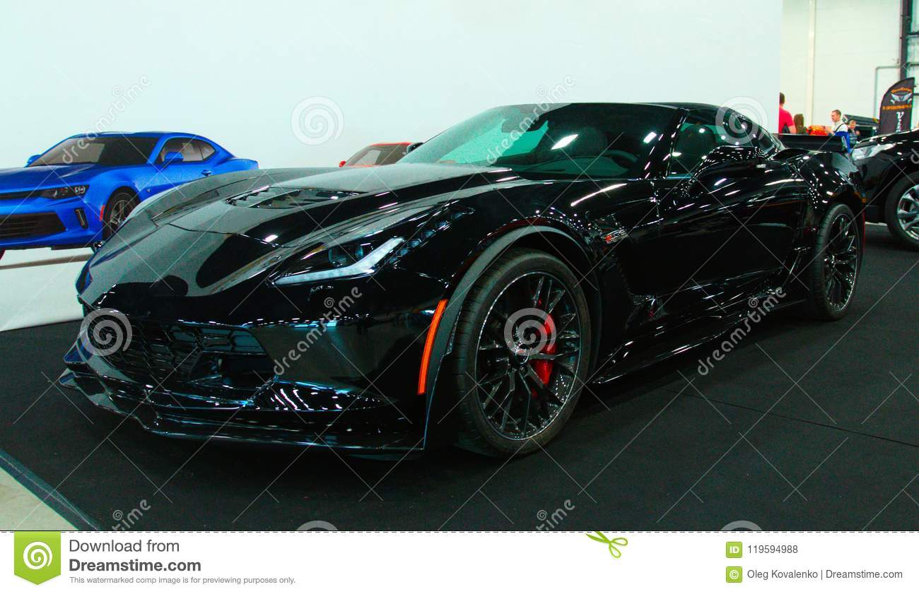 New American Muscle Car On Royal Auto Show Editorial Stock Photo - American muscle car show 2018