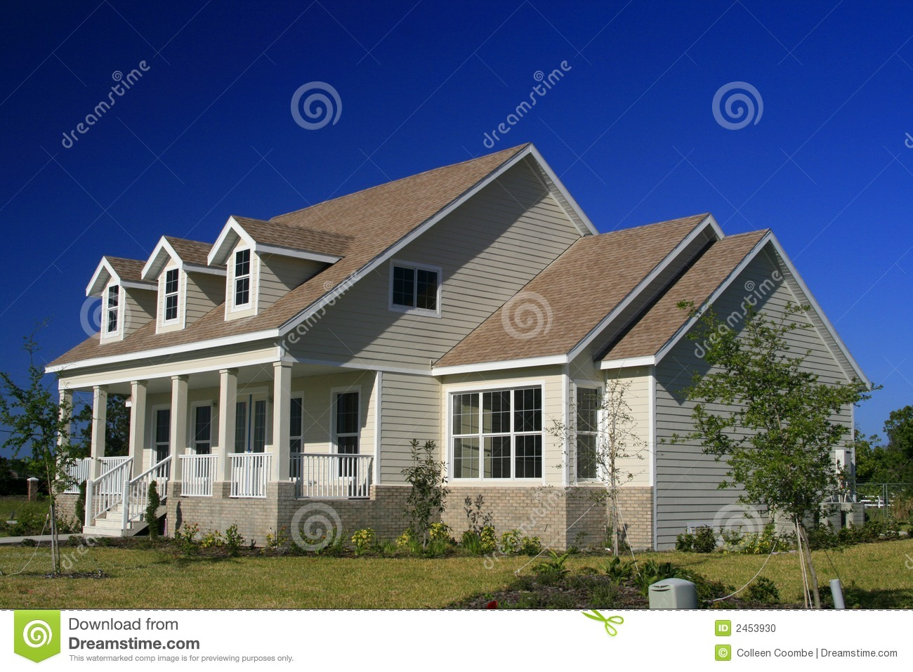 New american style home stock photo image of roof porch for New american style homes