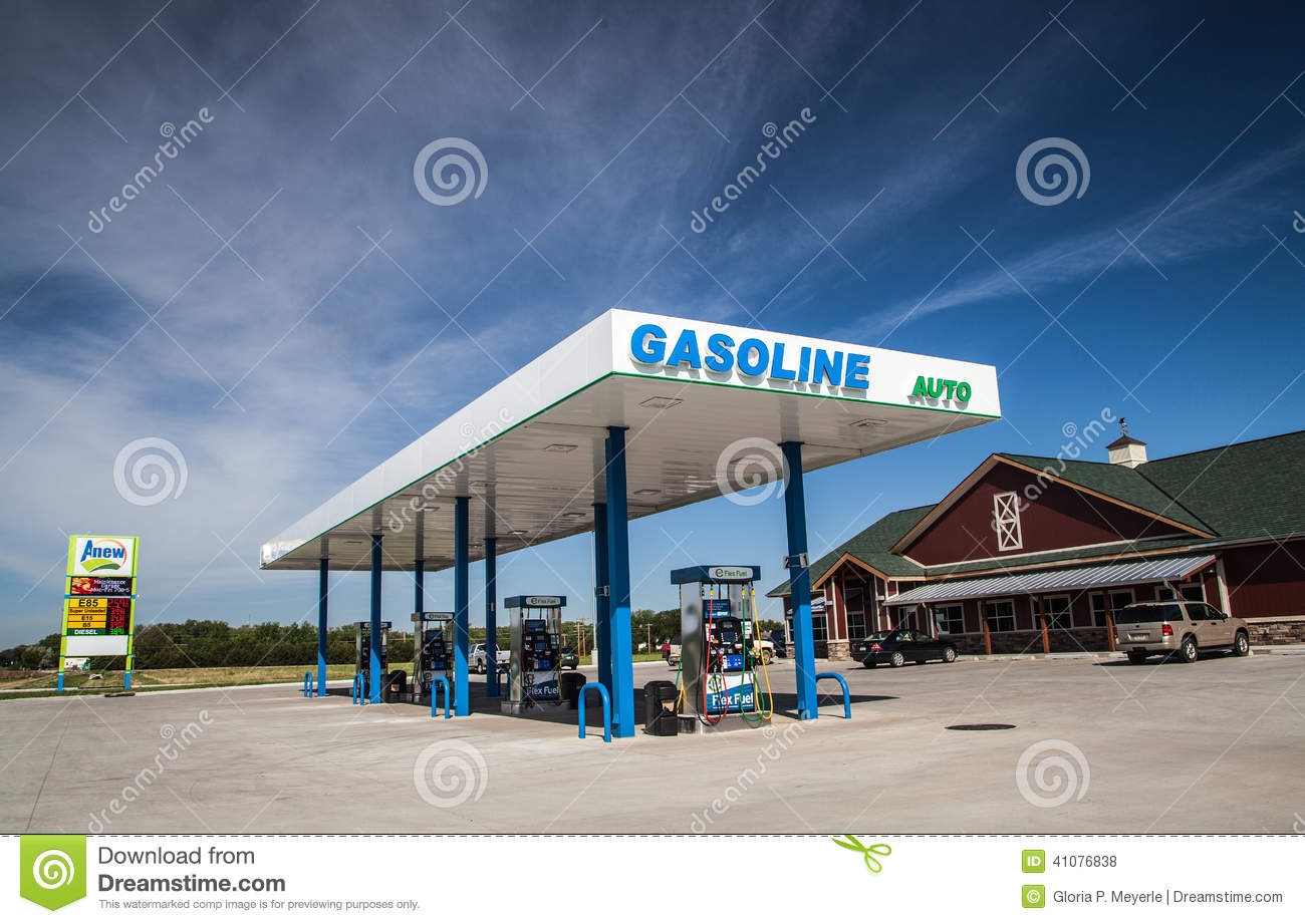 new anew flex fuel gas station convenience store editorial stock photo image 41076838. Black Bedroom Furniture Sets. Home Design Ideas