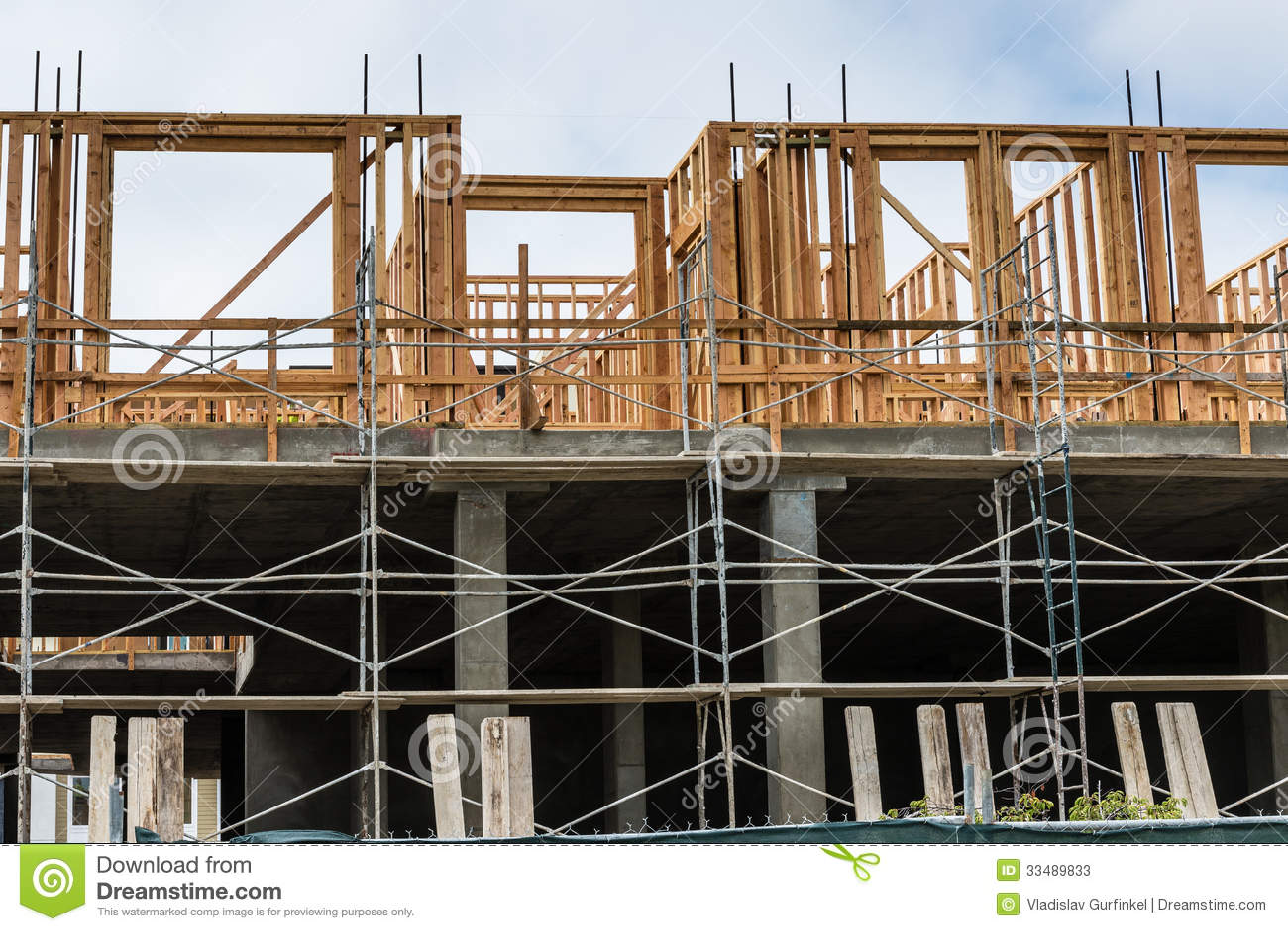 Apartment Building Construction new apartment building construction site stock photos - image