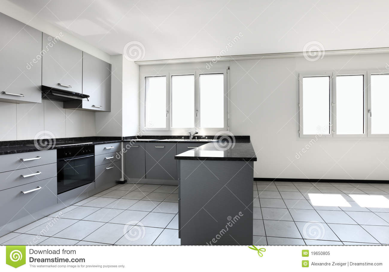 New Apartment Empty Kitchen Stock Image Image 19650805