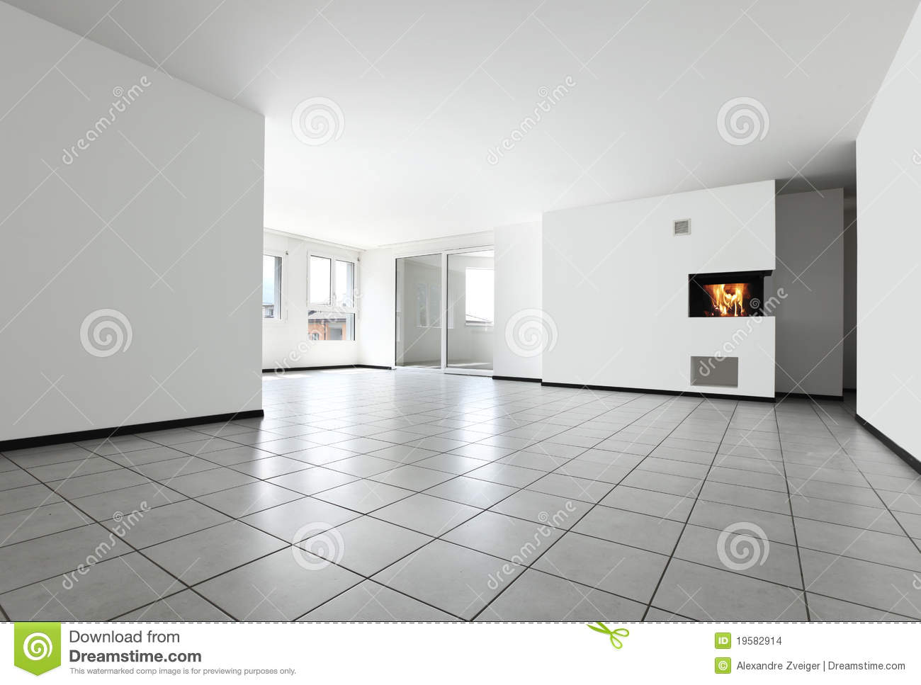 empty large white bright living room in a new home stock photography 21179384. Black Bedroom Furniture Sets. Home Design Ideas
