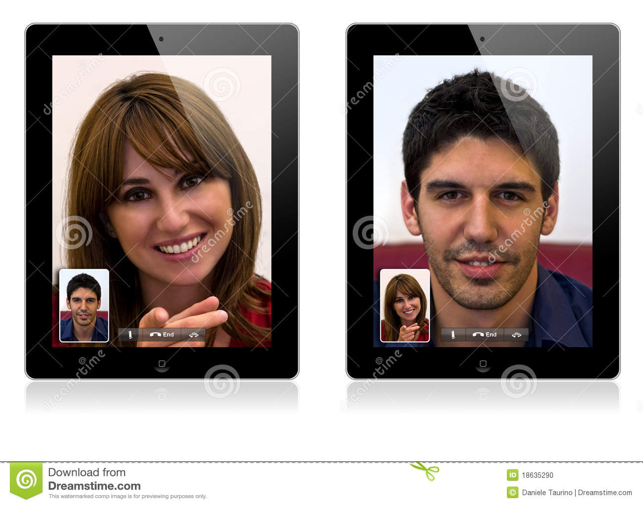 New Apple IPad 2 Video Calling Editorial Image - Image of