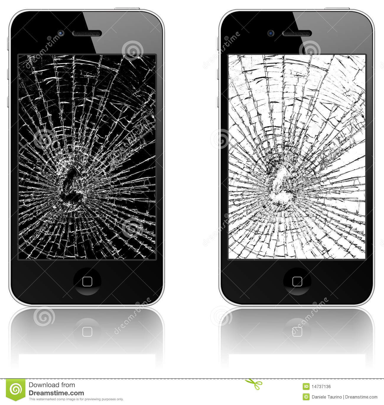 New Apple iPhone 4 broken
