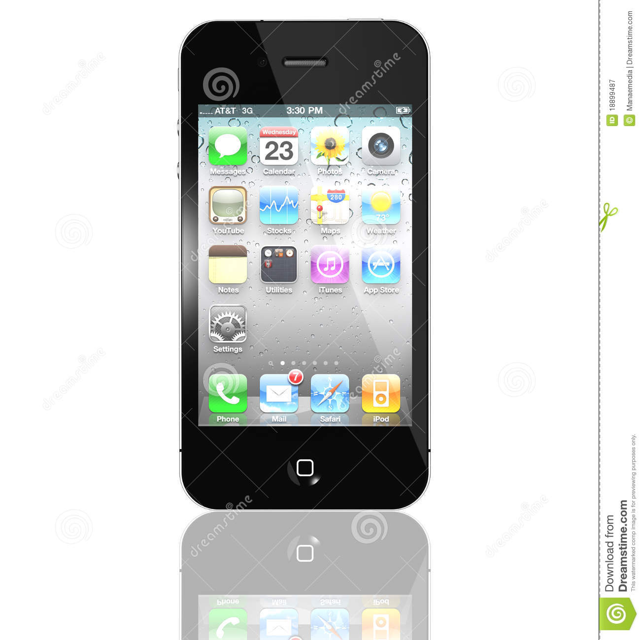 New Apple iPhone 4S with icons inside