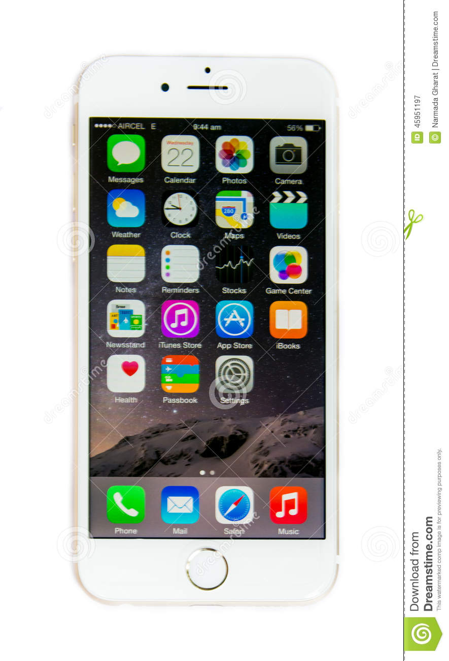 iphone screen changing colors new apple iphone 6 with ios 8 screen display isolated 15421