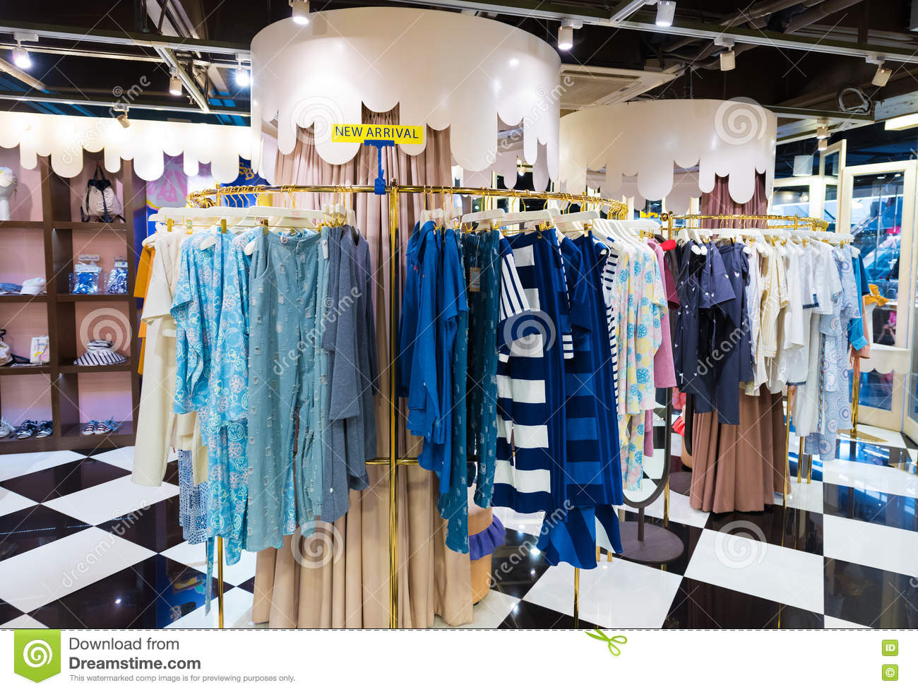 29f8a9ae BANGKOK - MARCH 17, 2016 : Unidentified people choose goods at a ladies  clothing store in the Siam Center. It was built in 1973 and was one of  Bangkoks ...