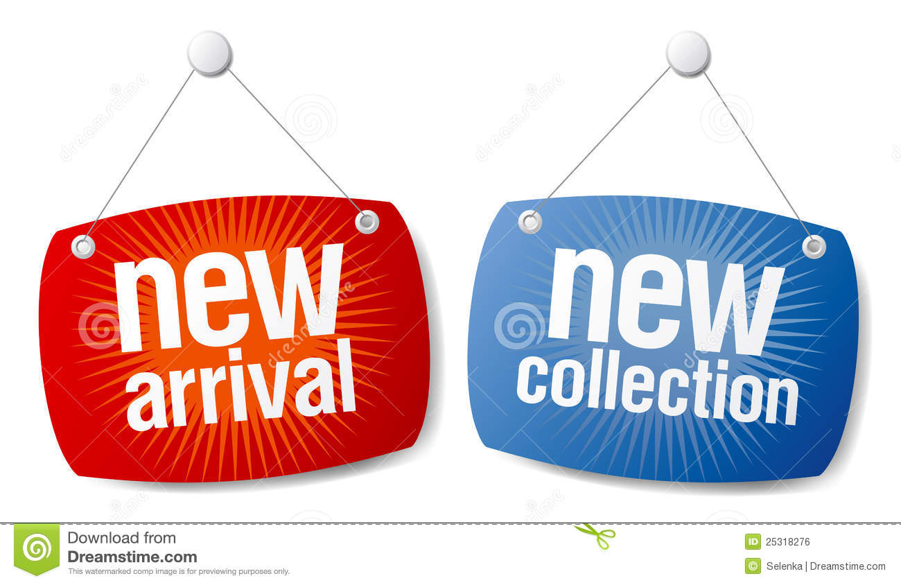 New Arrival New Collection Signs Royalty Free Stock