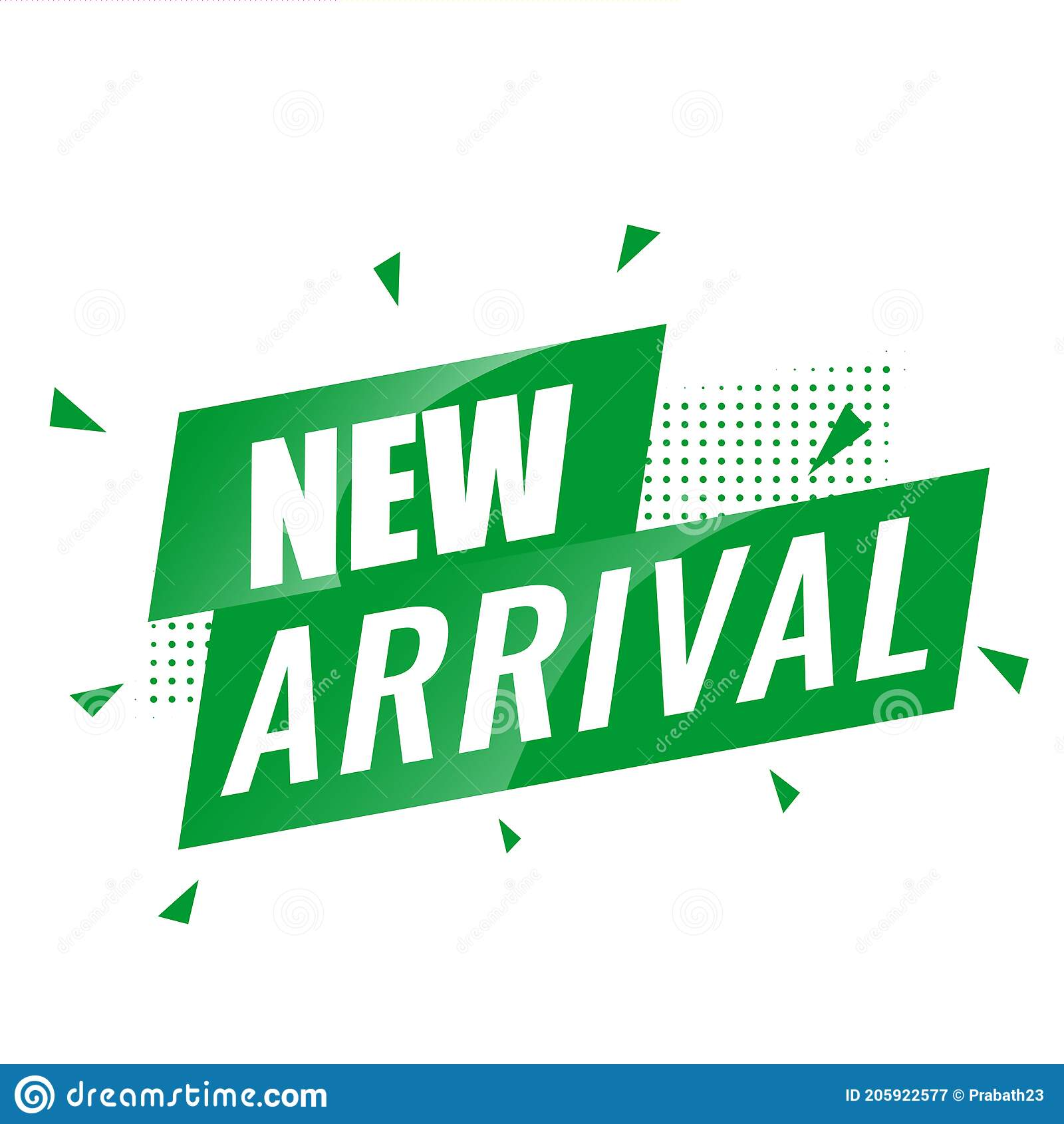 New Arrivals Text Vector Eps in Green Stock Vector   Illustration ...