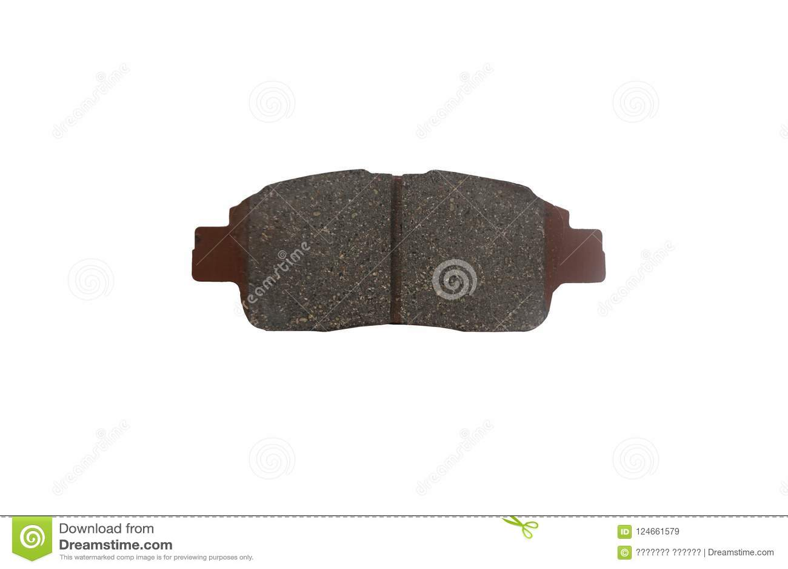New auto brake pad isolated on white background
