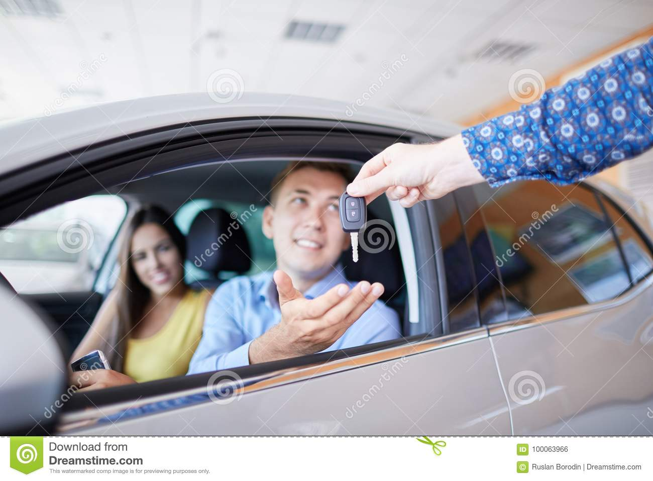New auto business, sale, family and people concept.