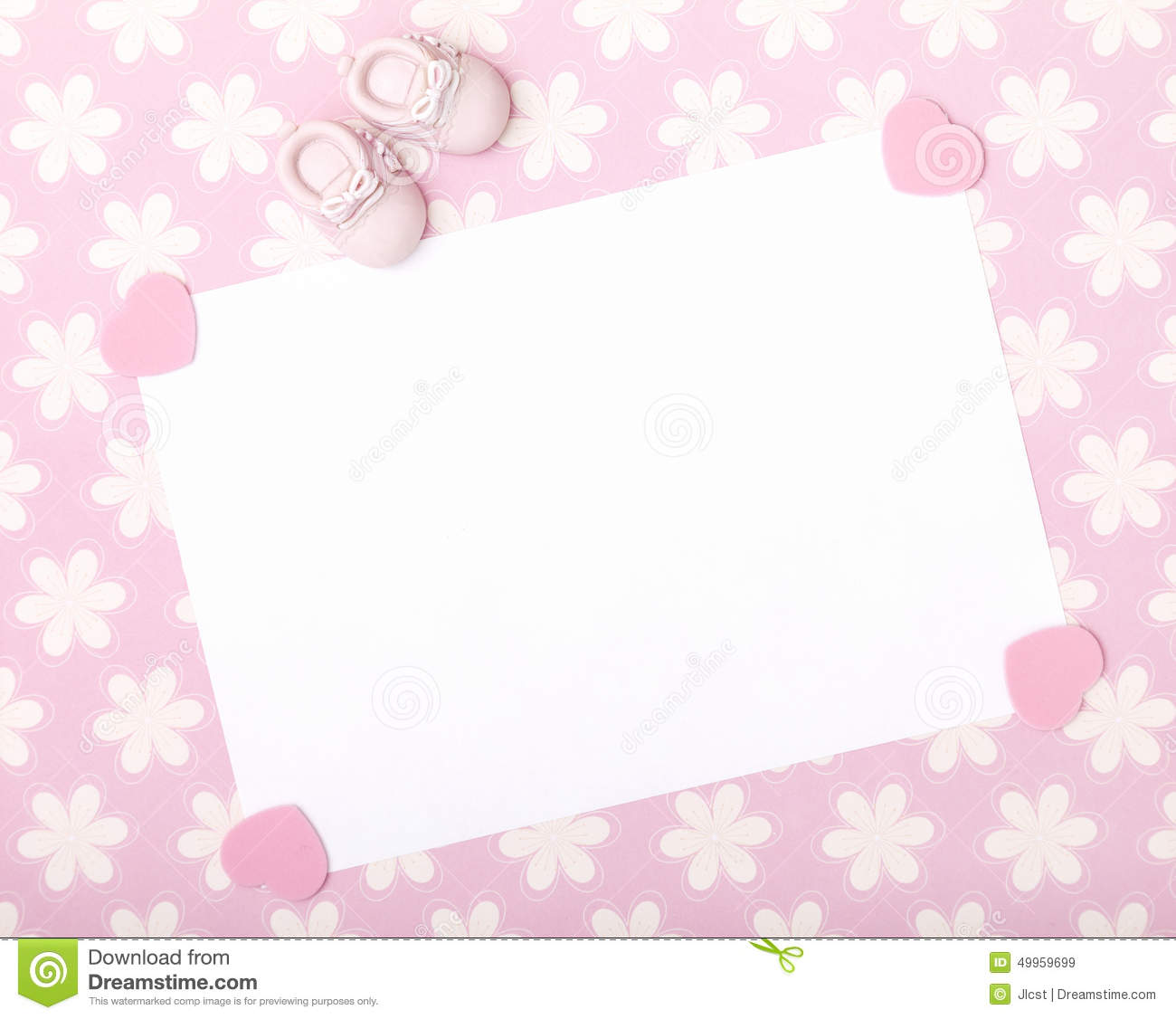 New baby announcement stock image. Image of blank, baby ...