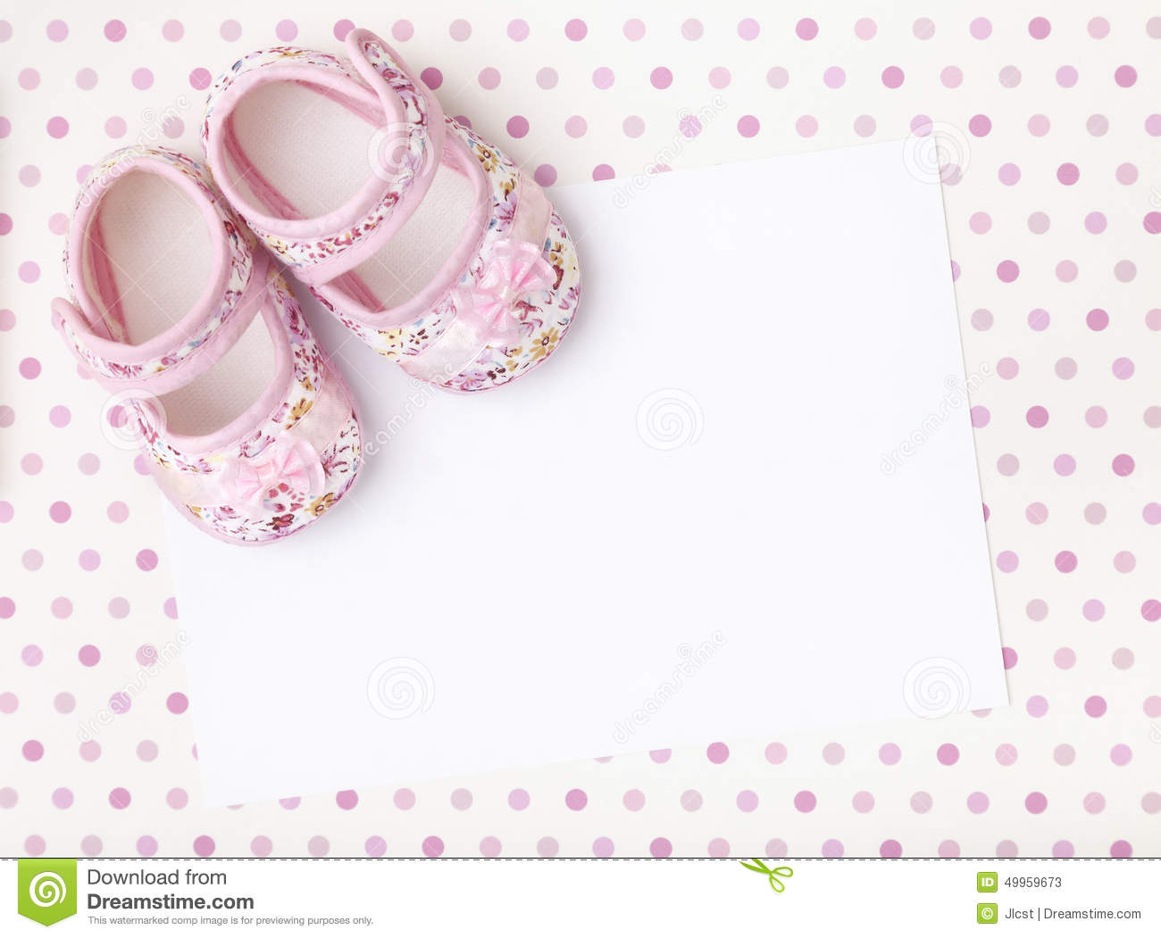 New Baby Announcement Stock Image Image Of Invitation 49959673