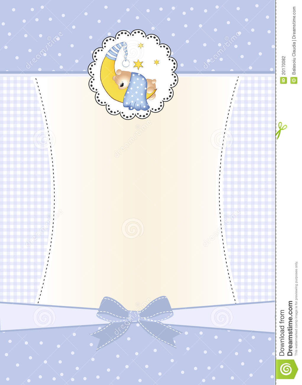 New Baby Boy Announcement Card Stock Photography Image