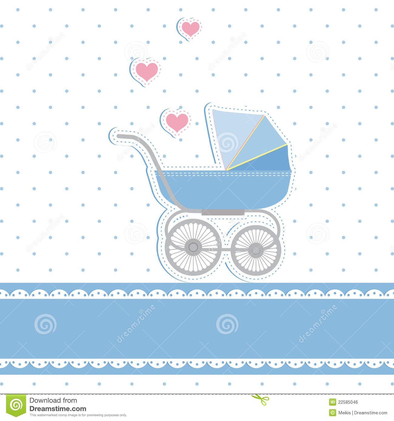 New Baby Boy Shower Invitation Card Stock Vector Illustration of