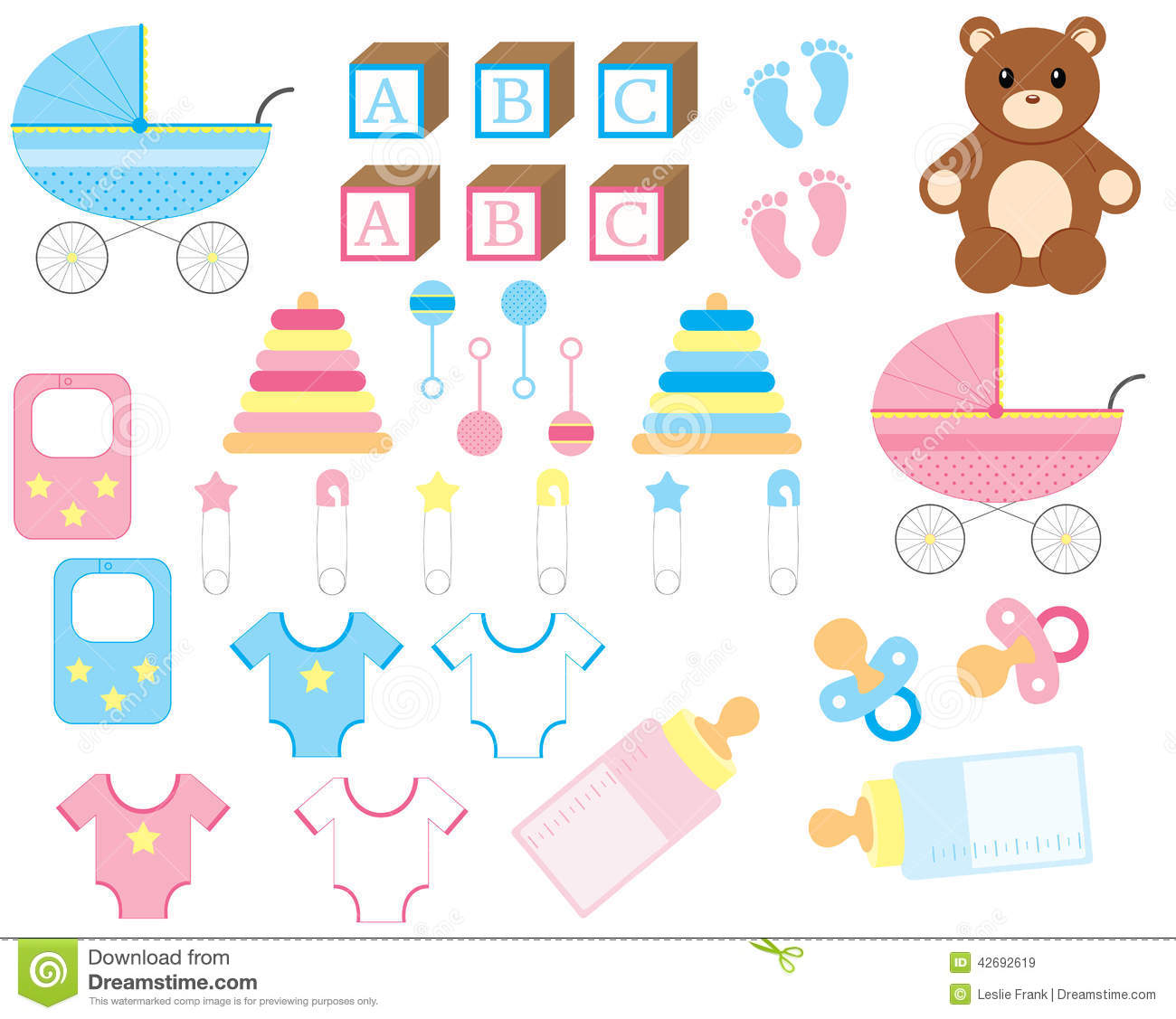 New Baby Set Stock Image Illustration Of Carriage Girl 42692619