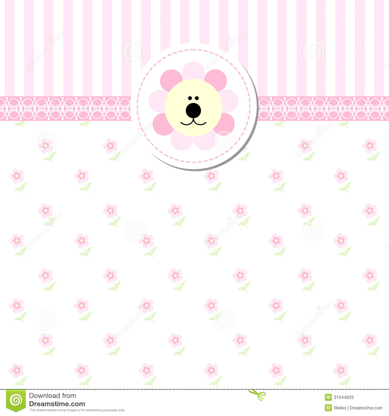 Welcome Wall Sticker New Baby Shower Invitation Card Stock Photos Image 31044633
