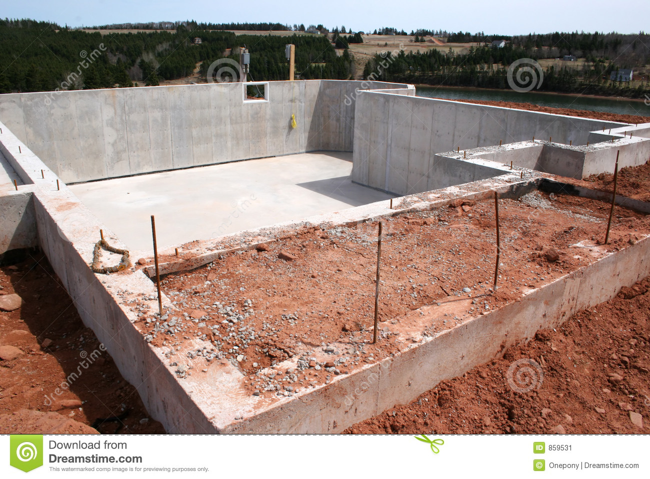 New Basement Foundation Stock Image Image Of House Dirt