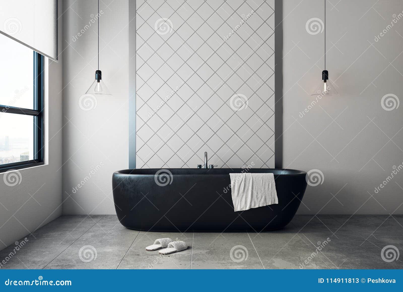 New Bathroom With Copyspace Stock Illustration - Illustration of ...