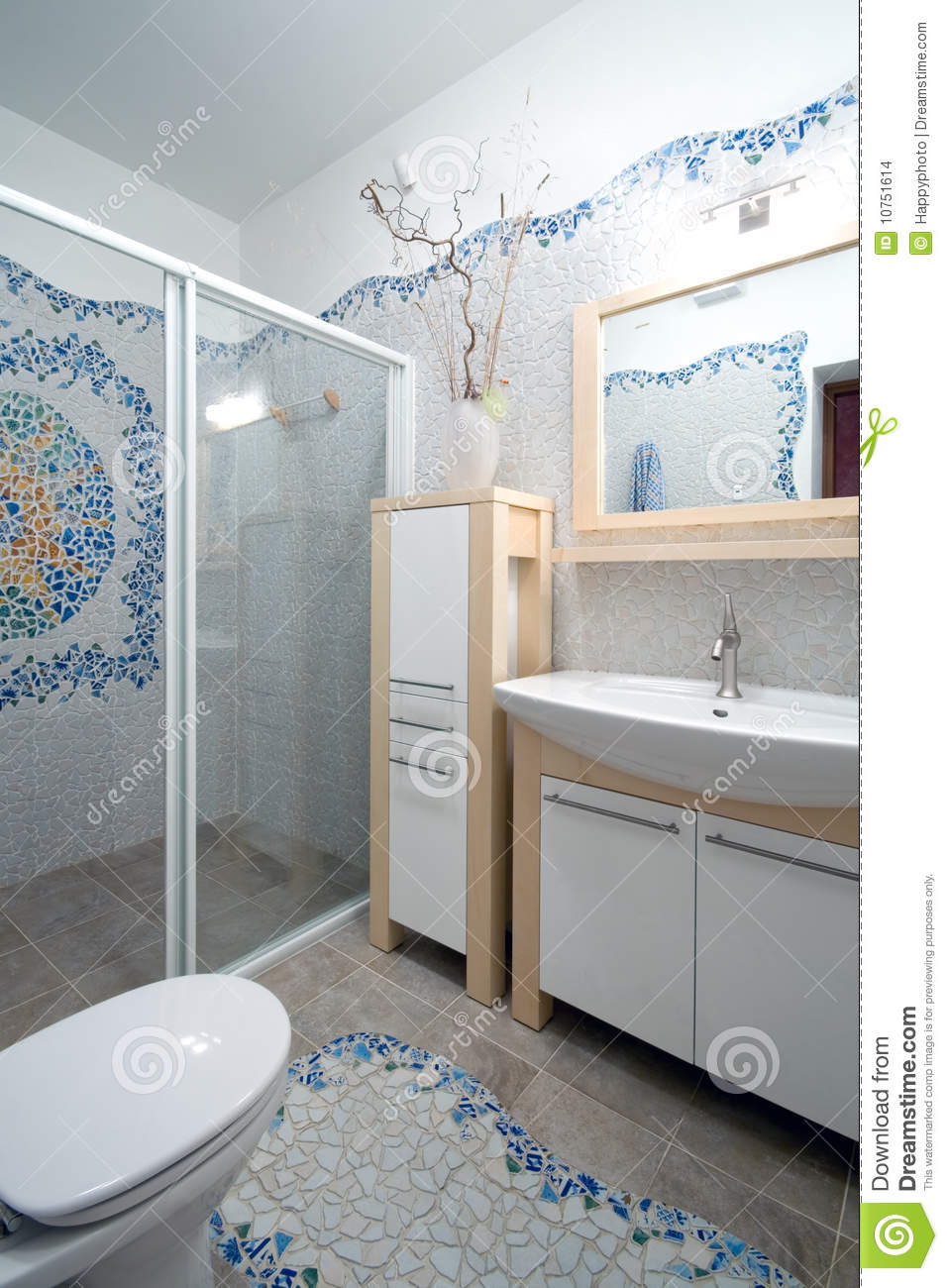 New bathroom interior stock image for Latest bathroom interior
