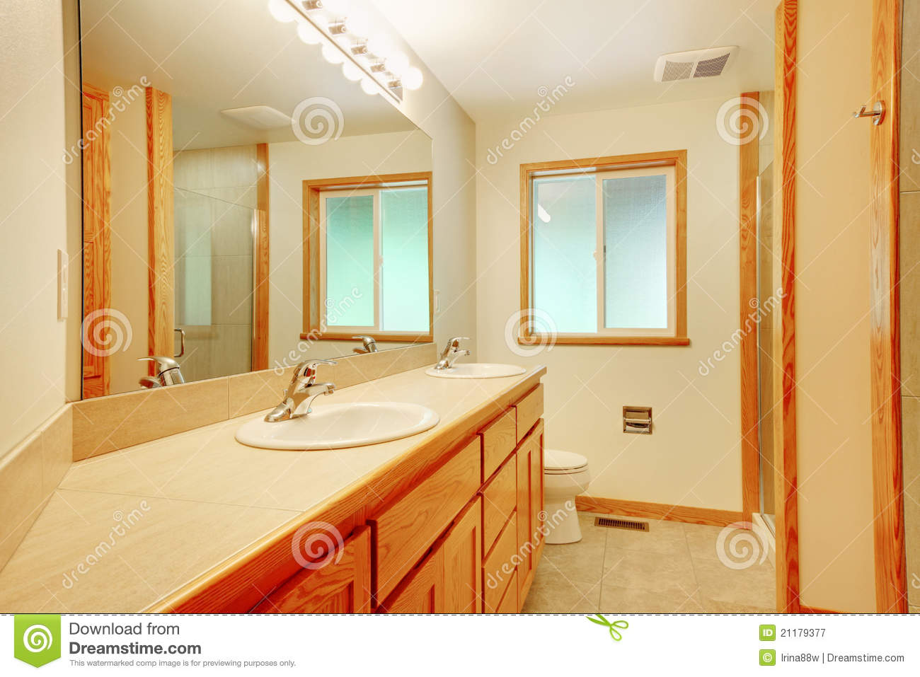 New bathroom with maple wood