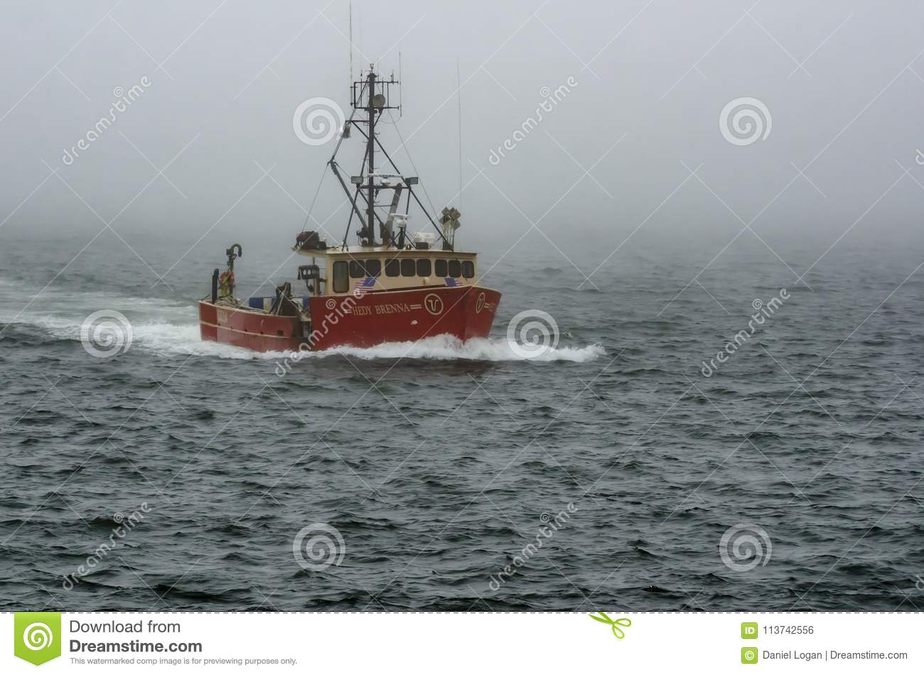 Fishing Boat Hedy Brenna Emerging From Fog Editorial Photo Image Of Foggy City 113742556