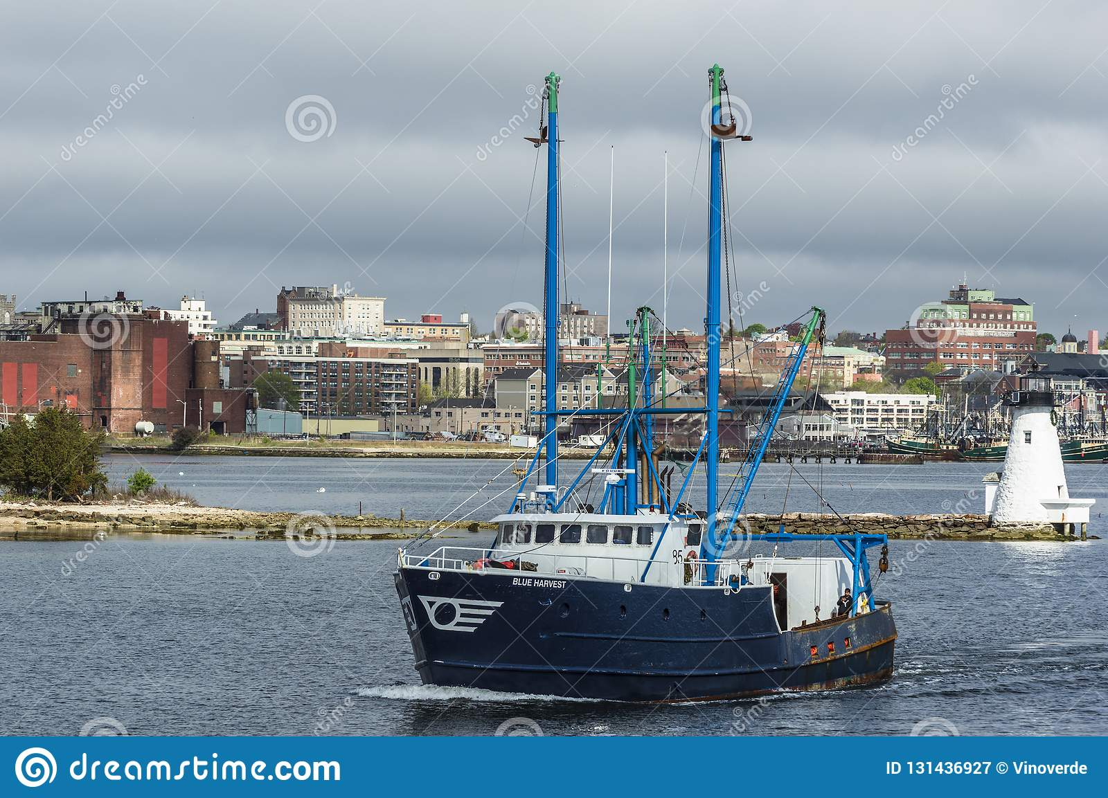 New Bedford, Massachusetts, USA - May 10, 2018: Commercial