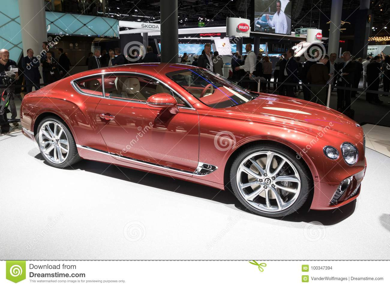 new 2018 bentley continental gt car editorial stock image