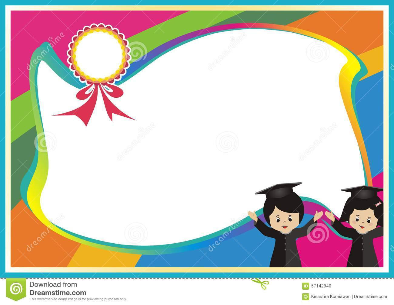 ... Photo: New Best colorful kid certificate Template. Image: 57142940