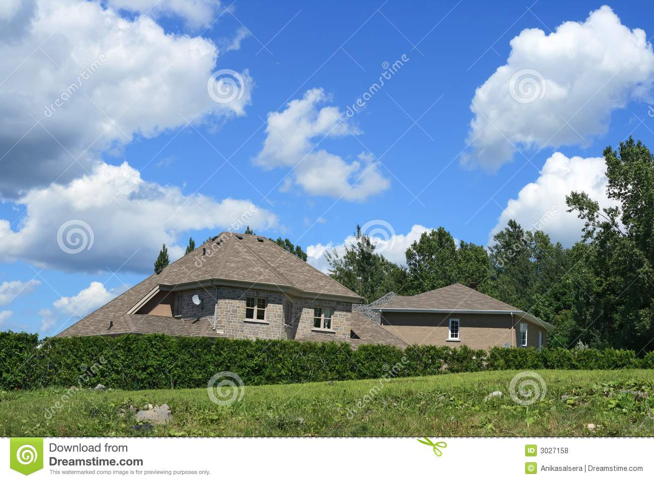 New big house royalty free stock photos image 3027158 for New house big