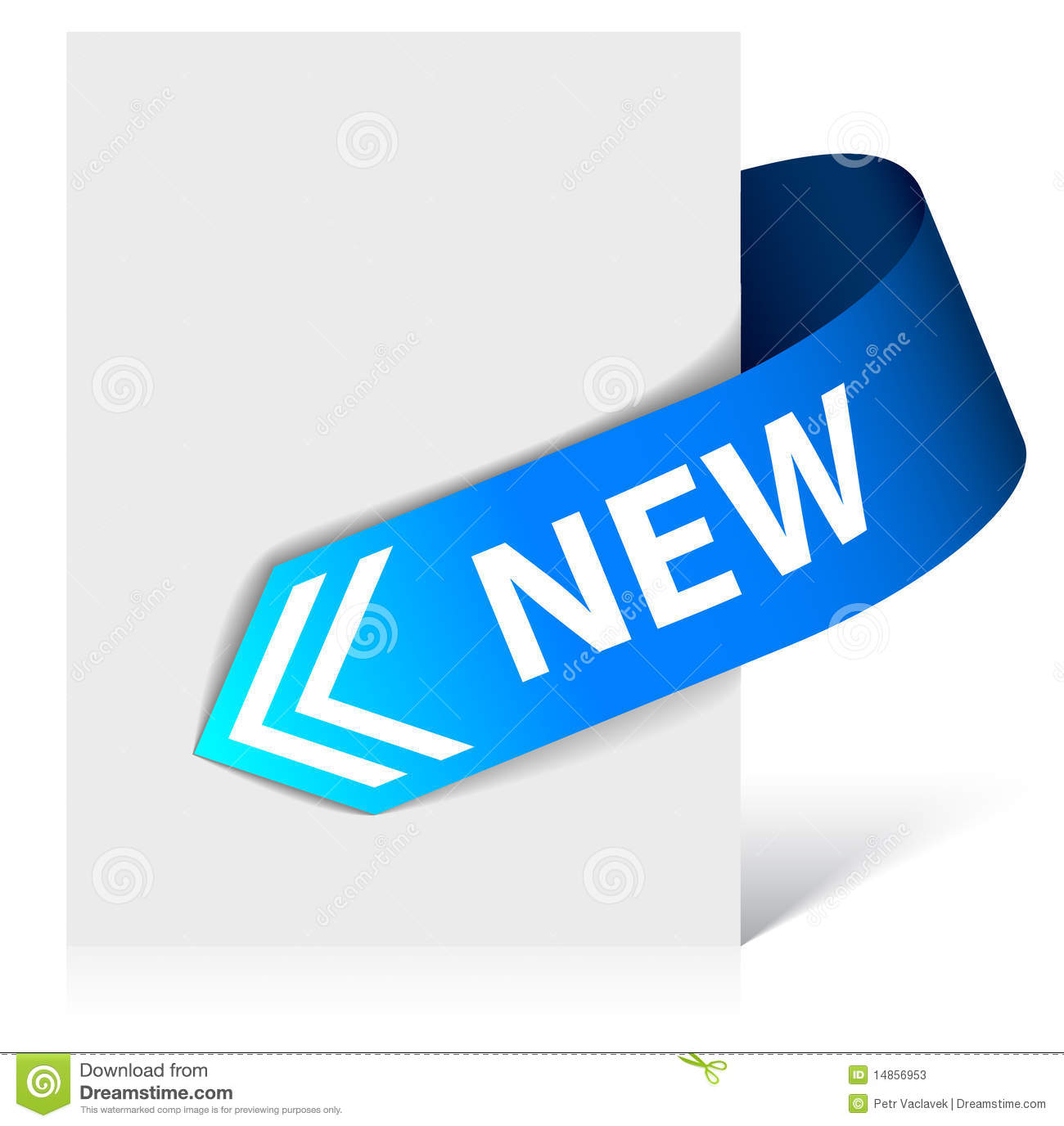 New blue corner ribbon