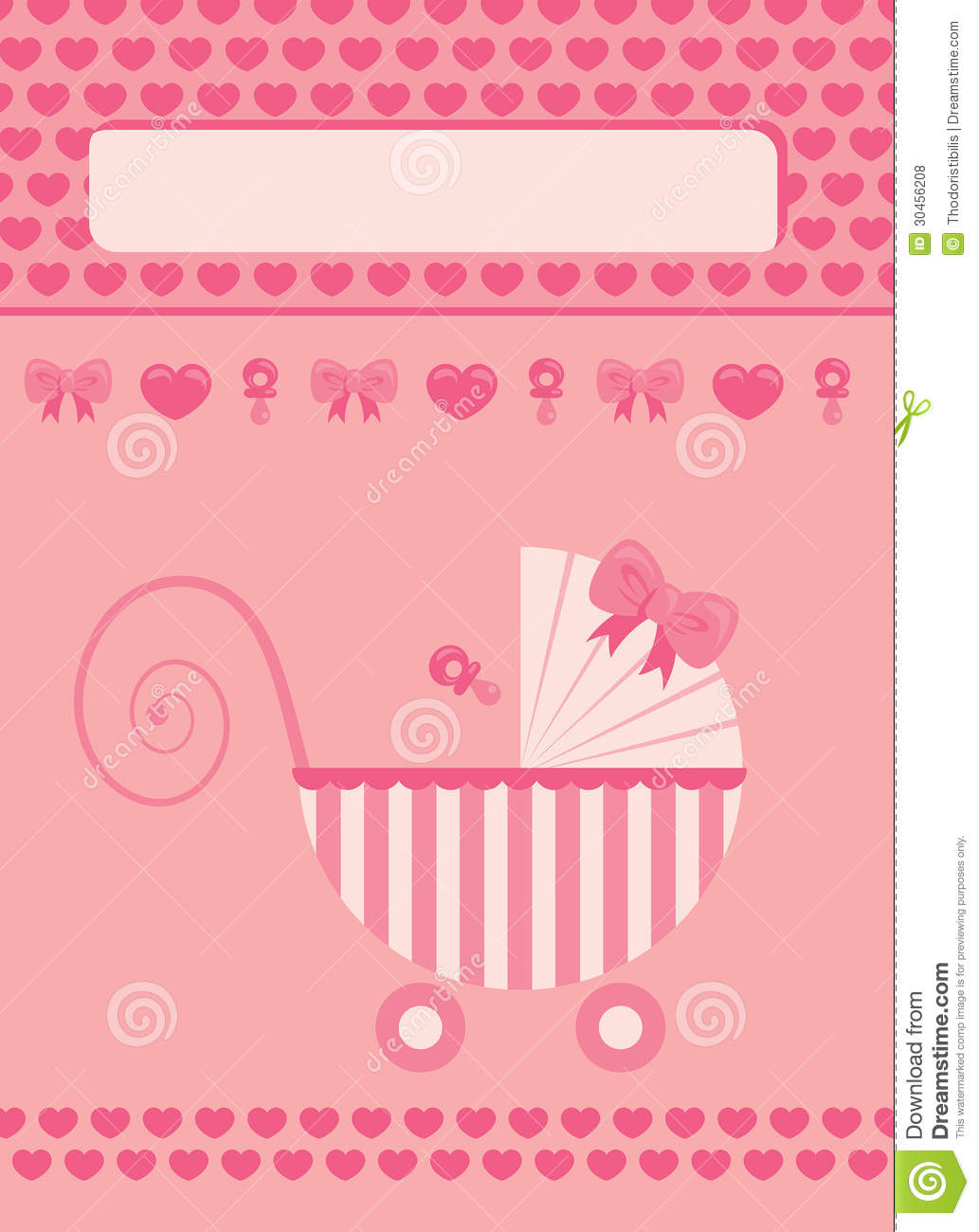 New born baby girl greeting card stock vector illustration of new born baby girl greeting card kristyandbryce Images