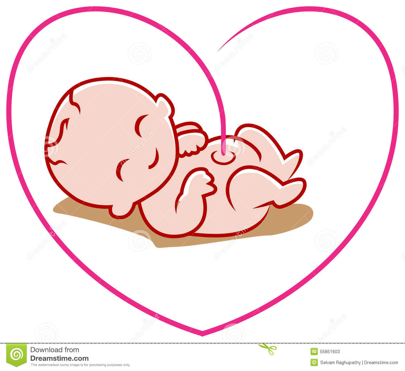 Line Art Love Heart : New born baby stock vector illustration of grows