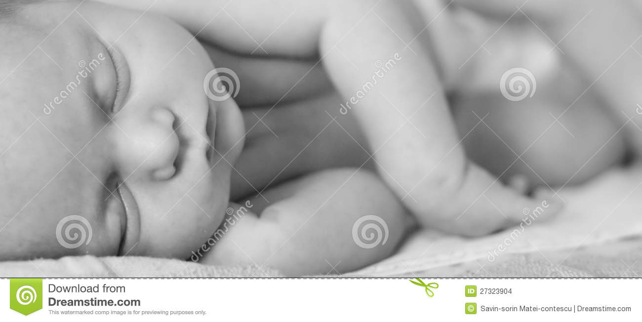 Download New born baby sleeping stock photo. Image of attractive - 27323904