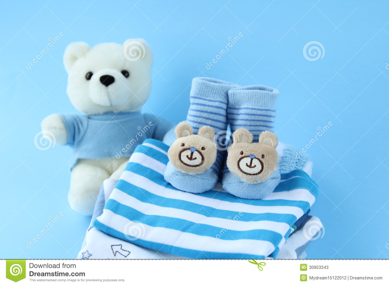New boy clothes stock image. Image of gifts, presents ...