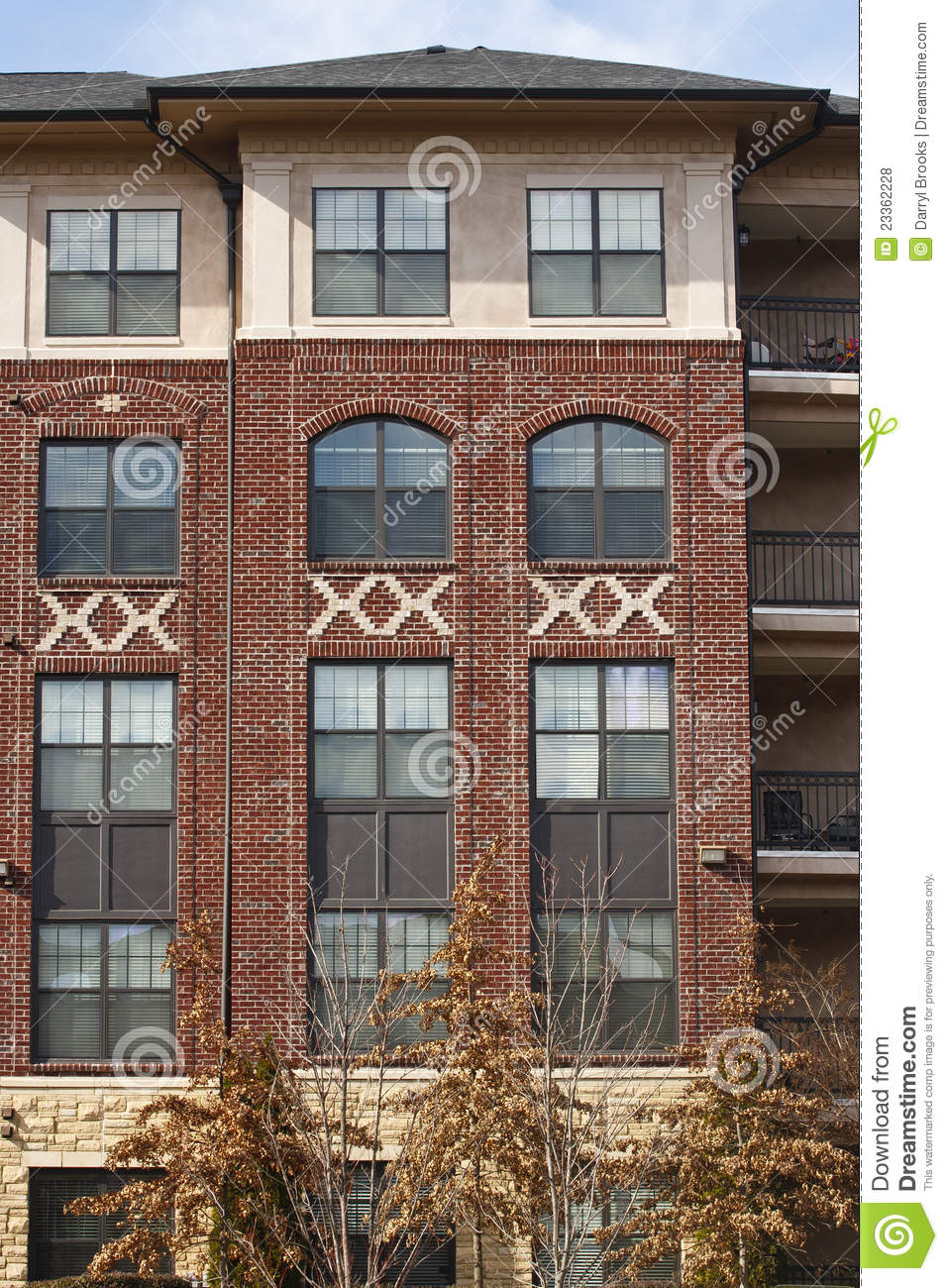 New Brick Apartment Building Royalty Free Stock Photos Image 23362228