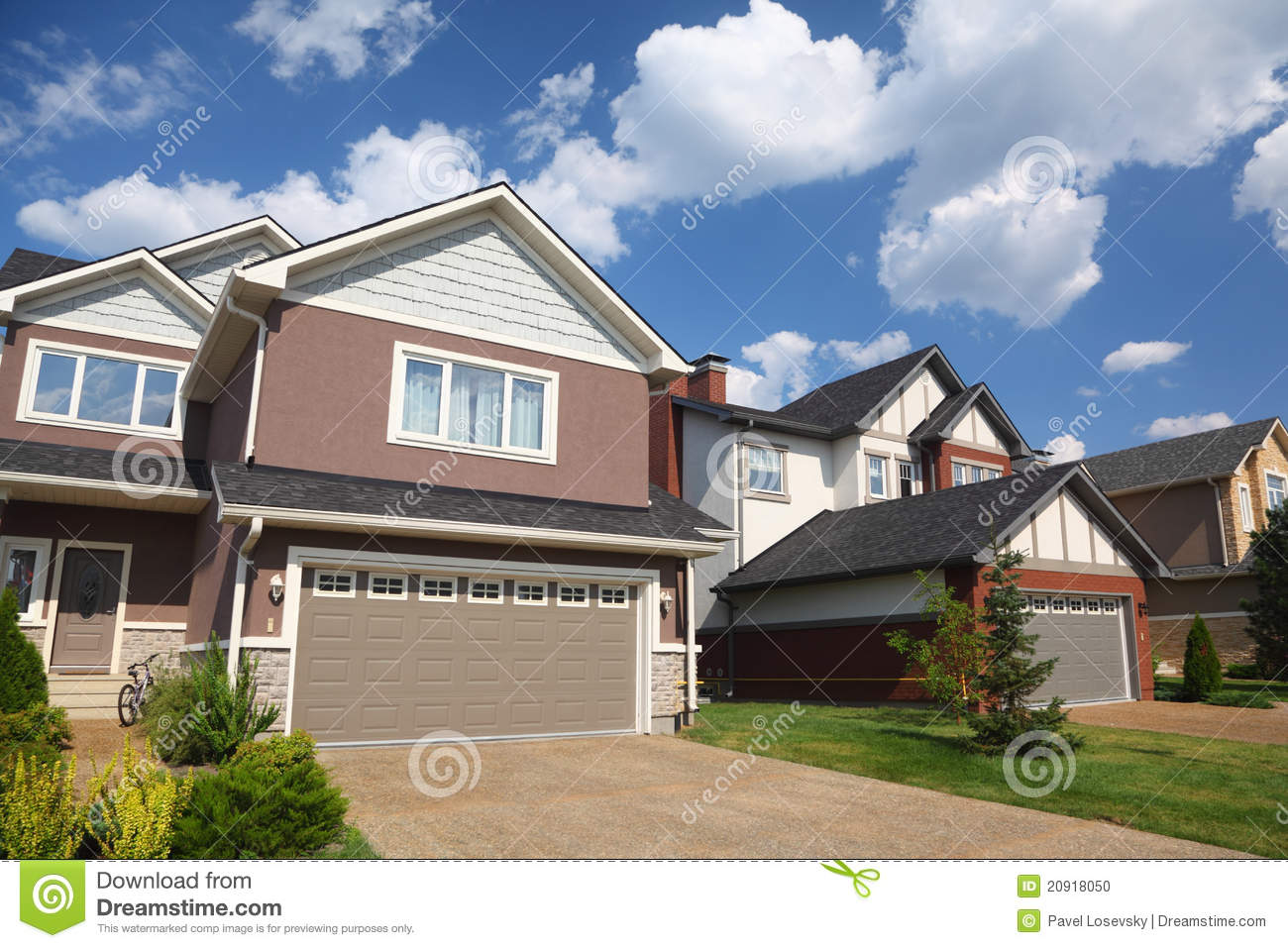 New brick cottage with garage stock photo image 20918050 for Brick garages prices