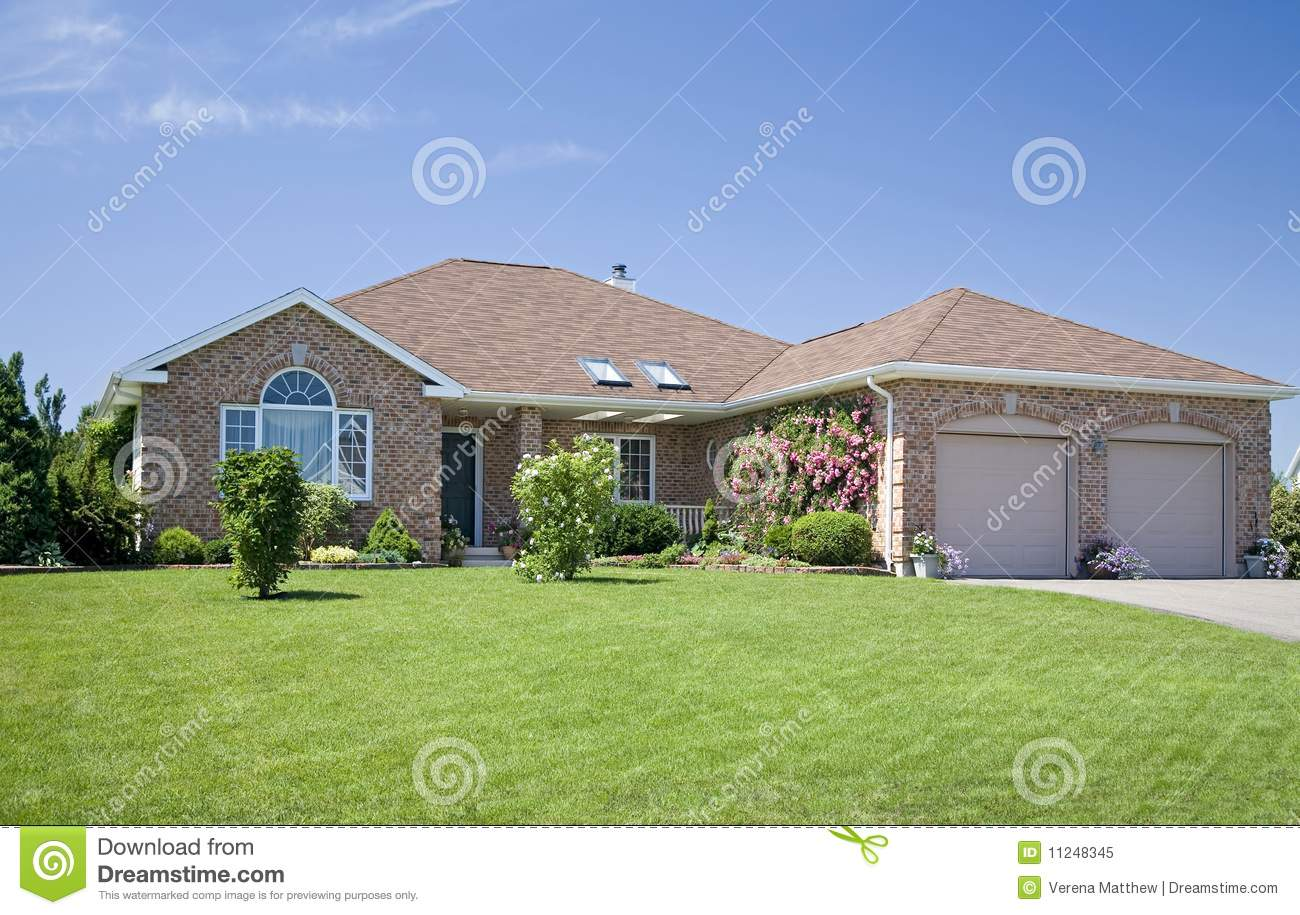 New brick home royalty free stock photo image 11248345 for New brick homes